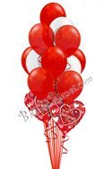 Valentine's Day Red and White 13 Balloons