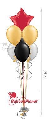 6 plain balloons