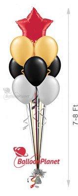 9 plain balloons