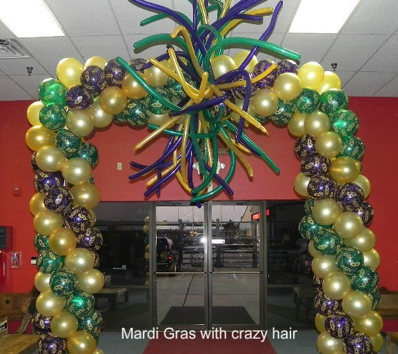 Mardi Gras with crazy hair