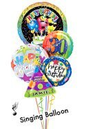 Singing Birthday Song Balloon Bouguet