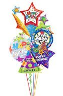 Starburst Birthday Balloon Bouguet
