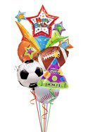 All Sports Birthday Balloon Bouguet