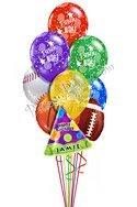 Sports Birthday Balloon Bouguet