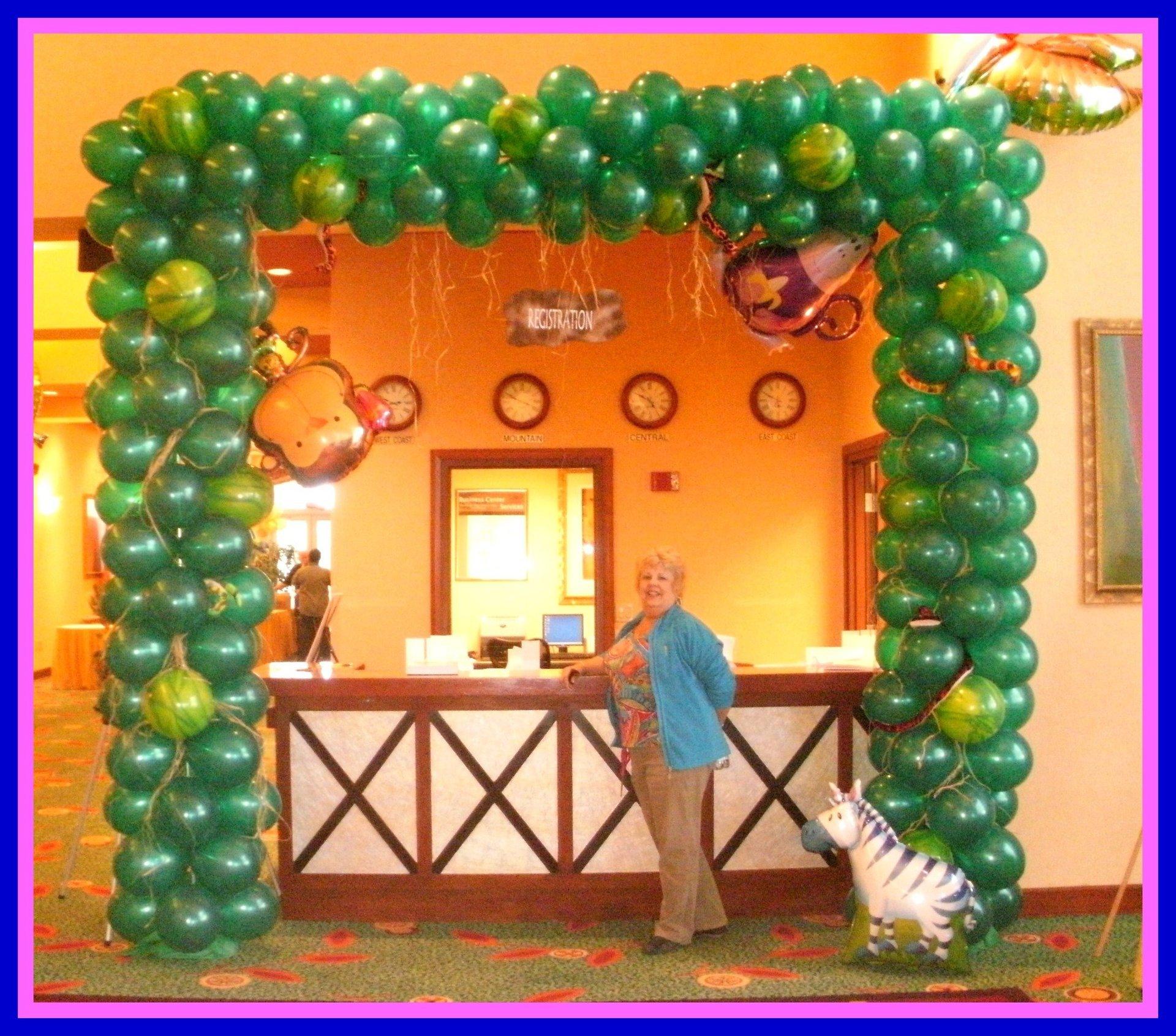 Registration Arch Jungle Theme