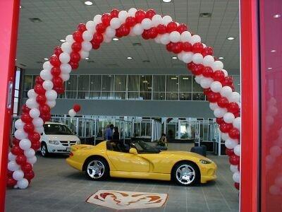 Auto Dealership Swirl Arch