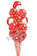 Valentine's Day Red Polka Dots