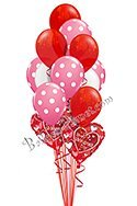 Valentine's Day pink Polka Dots