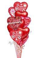 Valentine Hearts No Love Message