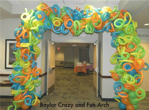 Baylor Garland Crazy and Fun Arch