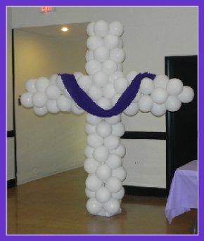 Easter Balloon Column