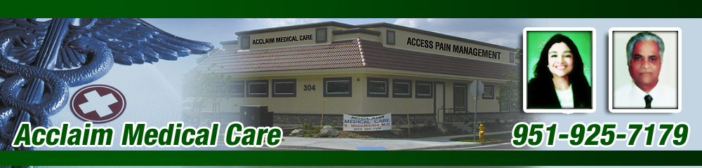 Internal Med And Pain Management Hemet, CA - Acclaim Medical Care