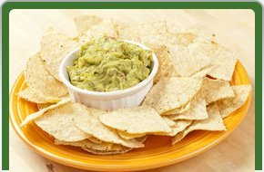 Chips with avocado