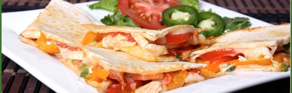 Quesadillas on plate