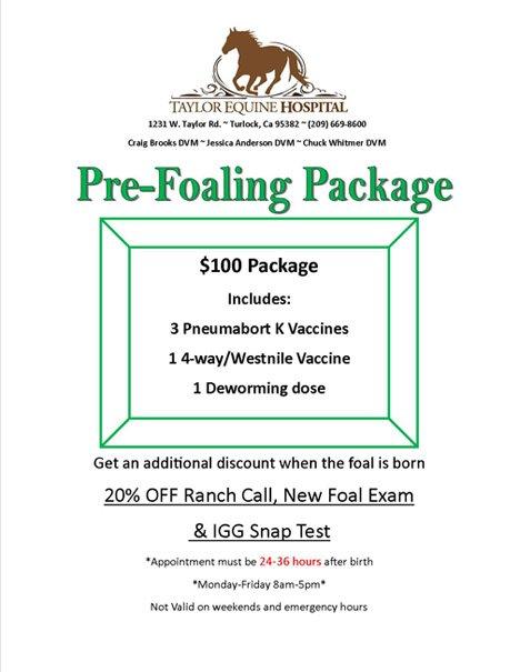 Pre-Foaling Package 2017