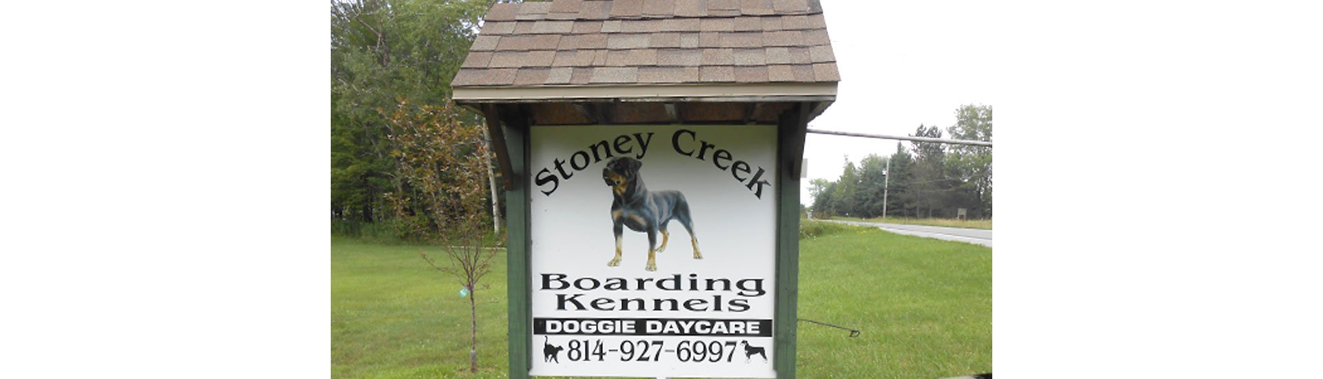 Dog Boarding Sign