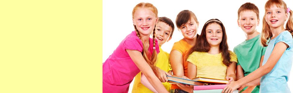 Children getting books