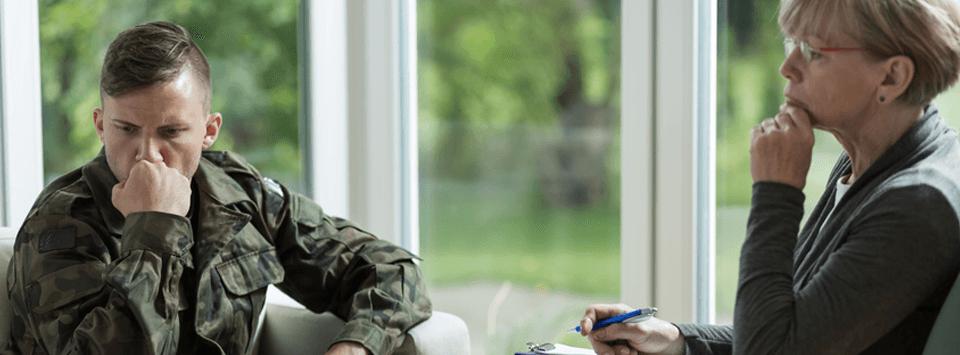 veteran at therapy