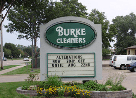 Burke Cleaners Sign