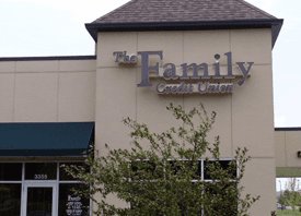 The Family Credit Union Sign