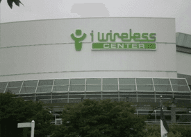 i wireless center sign