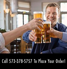 Lunch - Versailles, MO - Veracruz Mexican Restaurant - Men Toasting Beer - Call 573-378-5757 To Place Your Order!