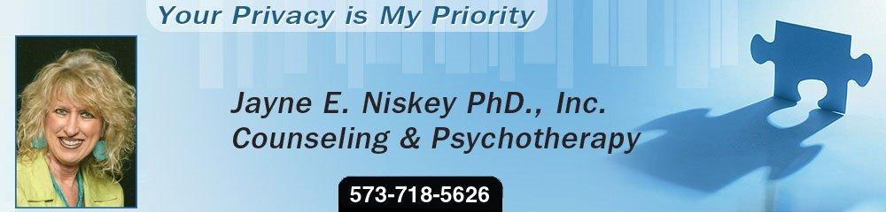 Counseling - Poplar Bluff, MO - Jayne E. Niskey PhD., Inc. Counseling & Psychotherapy