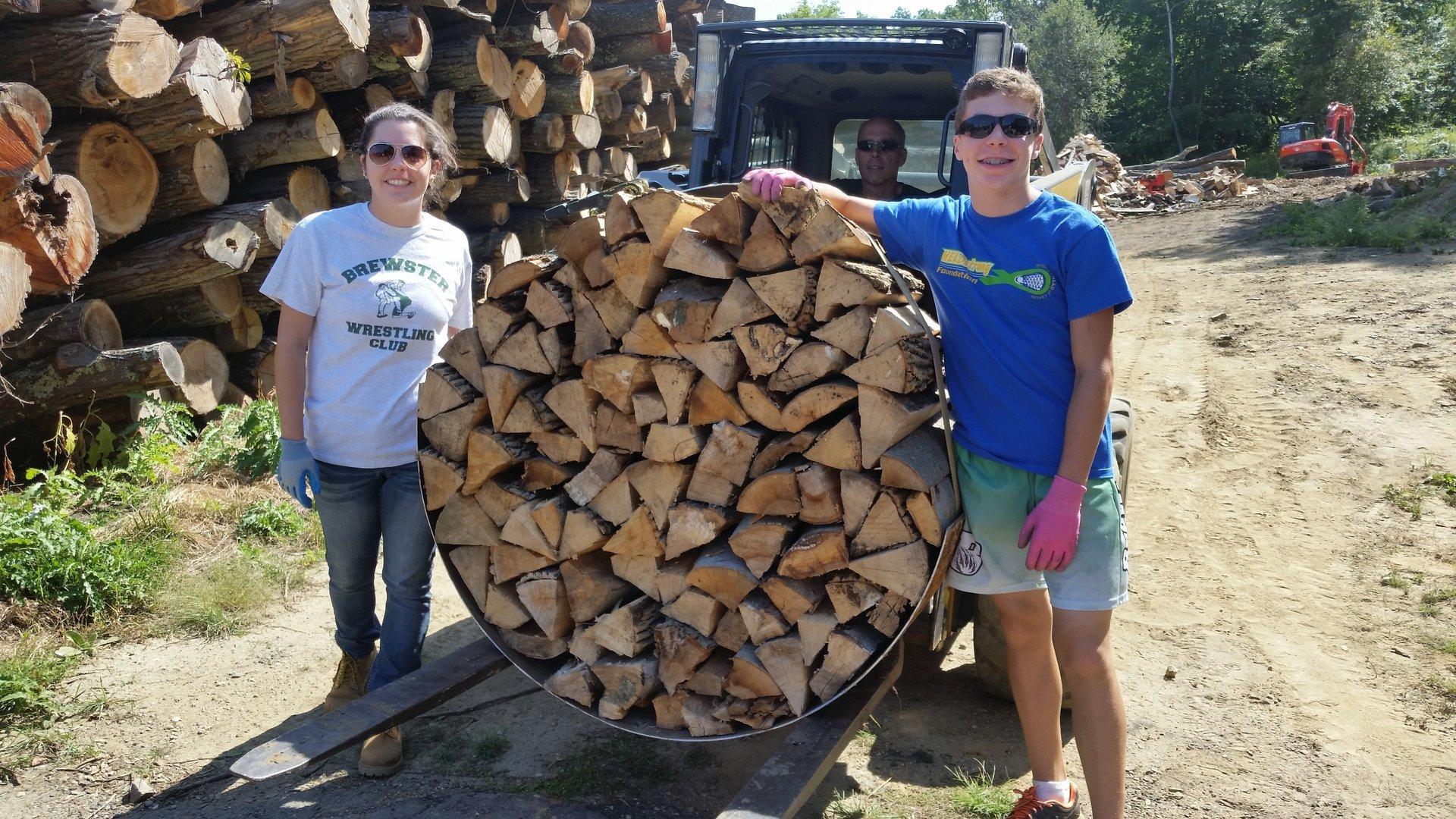 split wood pile