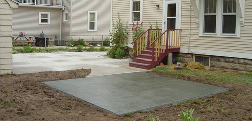 Exterior concrete
