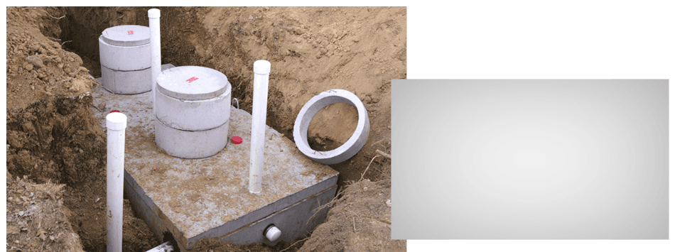 Brand new septic tank