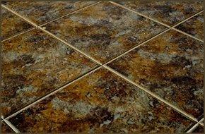 Porcelain tiled floor