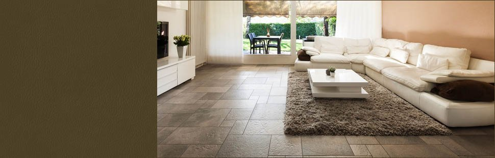Natural tile floor