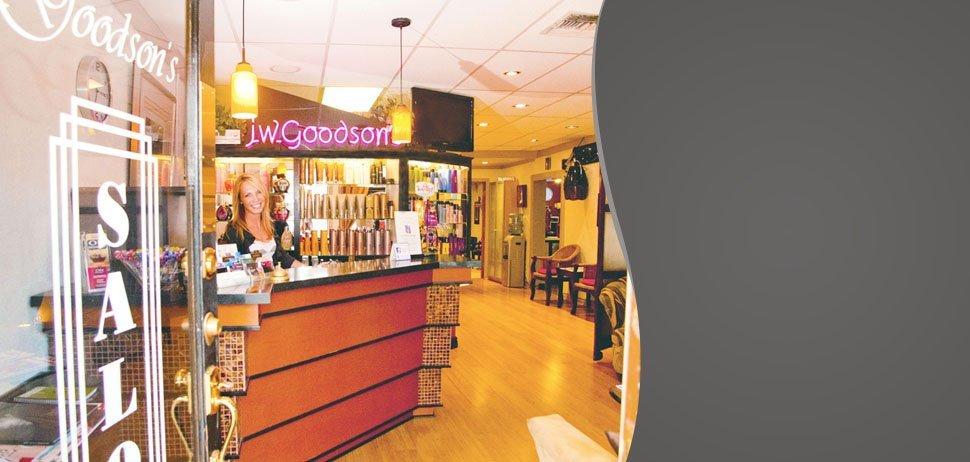 Salon's receiving area