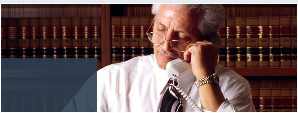 A lawyer talking over the phone