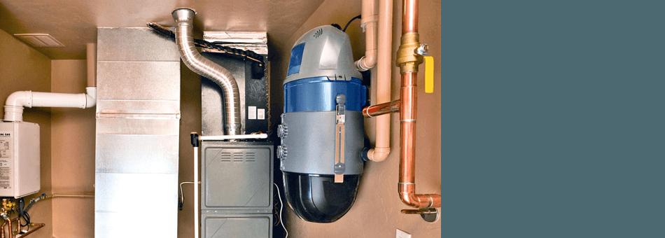 Water heater installed under the sink