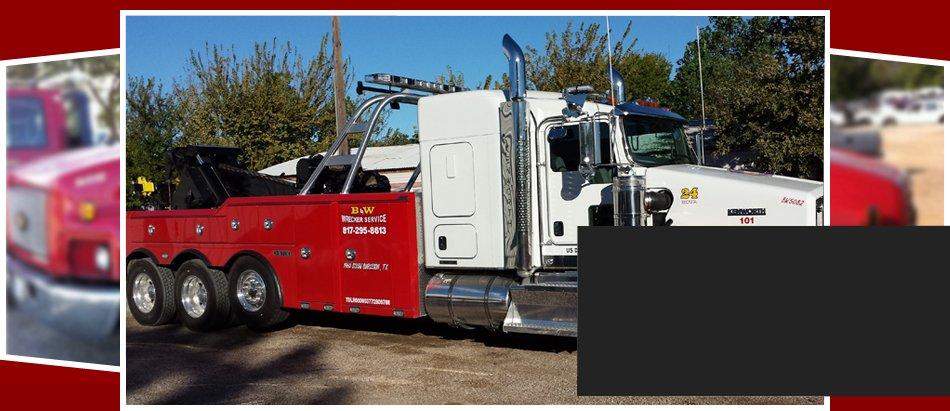 B & W Wrecker Service – Roadside Assistance | Burleson, TX