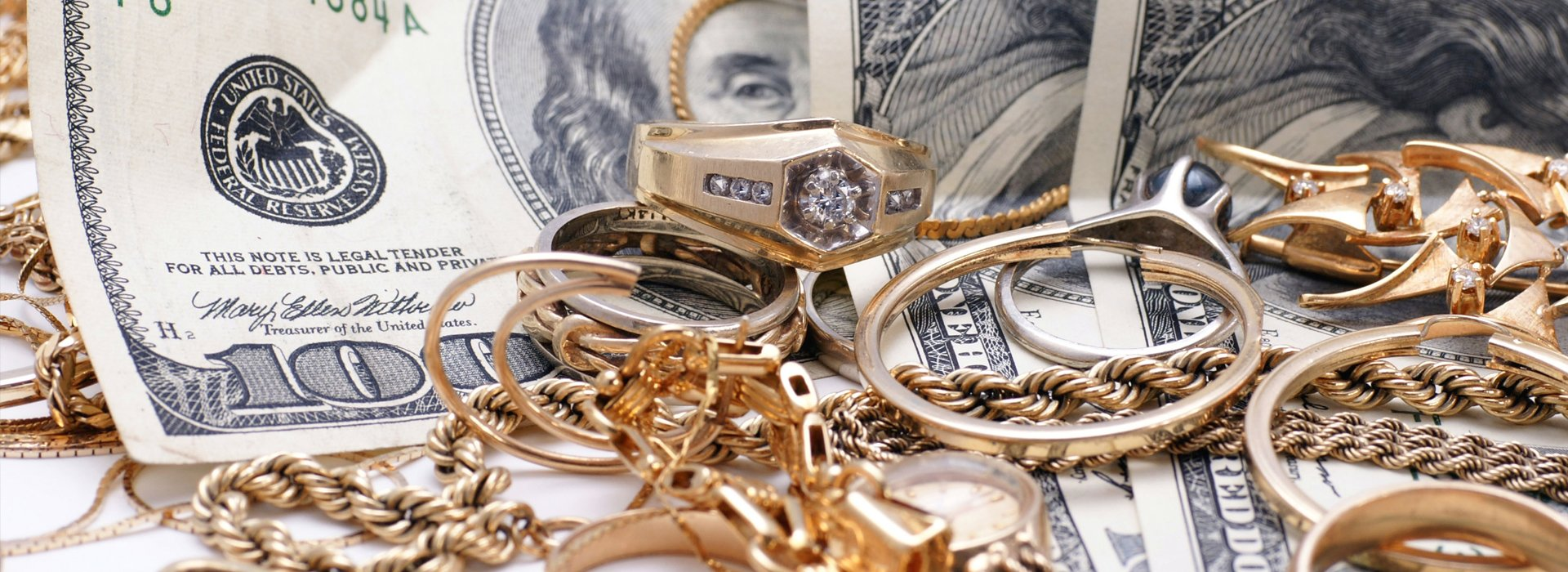 Cash and jewelry
