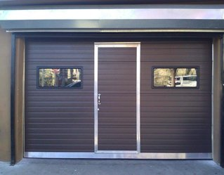 Commercial Sectional with pass thru door and lites | Philadelphia, PA | AAA Philly Overhead Doors | 215-291-0519