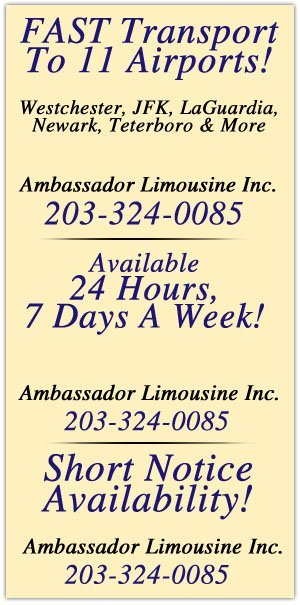 Airport Transportation - Stamford, CT - Ambassador Limousine Inc.