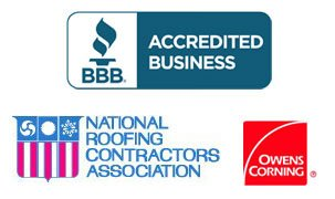 BBB Accredited Business, National Roofing Contractors Association , GAF certified, Owens Corning