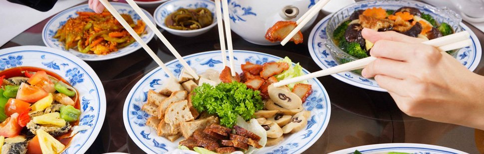 Chinese cuisine on a table