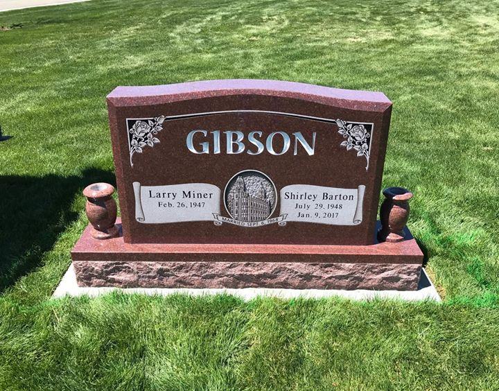 walker monument companion upright headstone