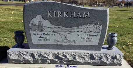 Upright Walker Monument Lehi Cemetery Utah