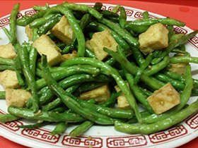 Dry green beans with tofu