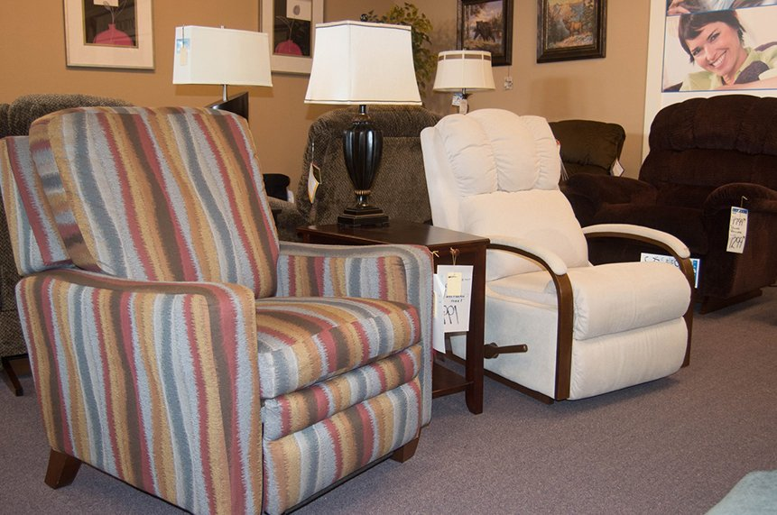 Recliners and lamps