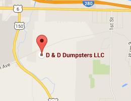 D & D Dumpsters LLC  9026 78th Ave. Coal Valley, IL 61240