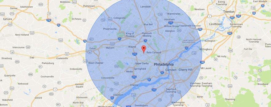 McClelland Electric Inc Service Area Map