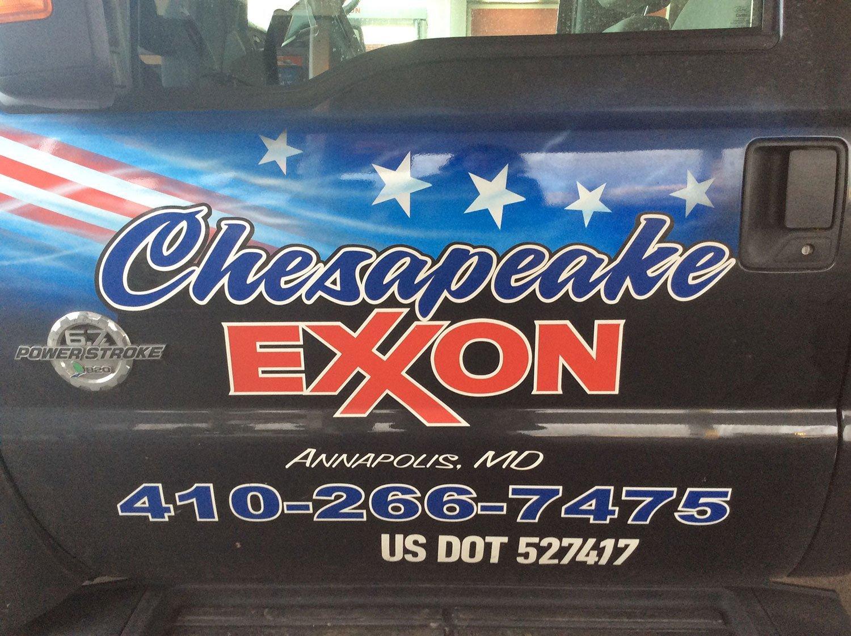 Chesapeake Exxon service van