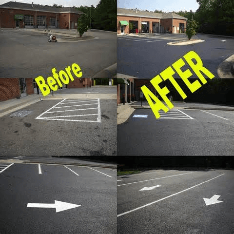 Before and after Paving