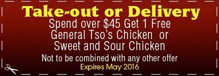 Take-Out or Delivery Coupon  - Bayville, NY - Good Taste Chinese Restaurant - Chinese Food